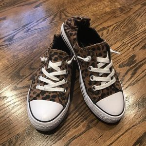 Falls Creek Cheetah Converse Style Shoes